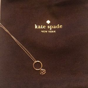 Kate Spade gold diamond charm necklace